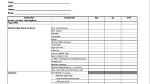 Check list kebersihan rumah sakit